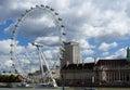 London Eye at the River Royalty Free Stock Photo