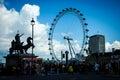 The london eye on river thames photo taken on april th Royalty Free Stock Photo