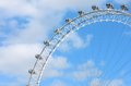 The london eye scene blue sky Royalty Free Stock Photo