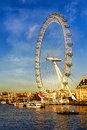 London Eye at Sunset Vertical Royalty Free Stock Photo