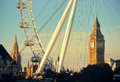 London eye uk sep and big ben on september in uk it is europe s tallest ferris wheel and the most popular paid Royalty Free Stock Photography