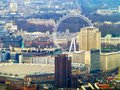 The london eye view of buckingham palace and other major site of capital from shard Stock Photography