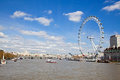 London Eye from Westminster Bridge Royalty Free Stock Images