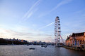 London Eye from Westminster bridge Royalty Free Stock Photos
