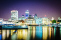 London financial district of the city of in the night photo taken on juillet rd Royalty Free Stock Photography