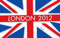 London flag 2012 Royalty Free Stock Photography