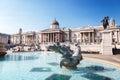 London fountain on the trafalgar square uk Royalty Free Stock Photos