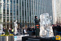 London Ice Sculpting Festival Stock Image