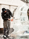 London Ice Sculpture Festival Royalty Free Stock Photo