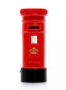 London iconic post box letter miniature on white Stock Image
