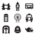 London icons this image is a illustration and can be scaled to any size without loss of resolution Royalty Free Stock Photography