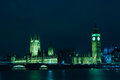 London the landmark of the parliament at night Stock Photography