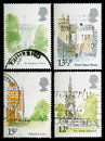 London Landmarks Postage Stamps Stock Photography