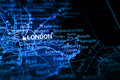 London on map Royalty Free Stock Photography