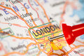 London on a map Stock Photo