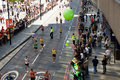 London maraton Royaltyfria Bilder