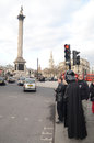 London march darth vader out trafalgar square london march th london england Stock Image