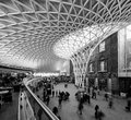 London march people rushing kings cross station one oldest very modern most beautiful train stations london london uk march Stock Photos