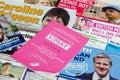 London Mayor election pamphlets Royalty Free Stock Photo