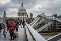 London, Millennium Bridge Royalty Free Stock Photo