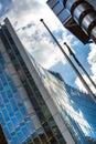 LONDON, Modern English architecture, Lloyds bank building texture. City of London Royalty Free Stock Photo