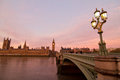 London morning thames with big ben and westminster bridge during early in uk Stock Photo