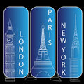London, newyork and paris Royalty Free Stock Photo