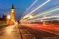 London at night big ben and house of parliament uk Royalty Free Stock Images