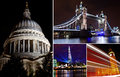 London at night some of s landmarks Royalty Free Stock Photo