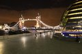 London by night tower bridge in great britain Stock Photography