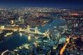 London At Night And Tower Bridge