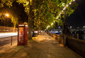 London night walkway Royalty Free Stock Photo