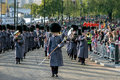London november band of the honorable artillery company m marching at lord mayor s show in on unidentified Royalty Free Stock Photography