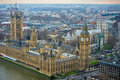 London palace of westminster and big ben clock tower united kingdom houses parliament unesco world heritage site Royalty Free Stock Photo