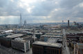 London panorama aerial view from cathedral saint paul Stock Photo