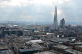 London panorama aerial view from cathedral saint paul Royalty Free Stock Photography