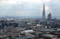 London panorama aerial view from cathedral saint paul Royalty Free Stock Photos