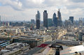 London panorama aerial view from cathedral saint paul Royalty Free Stock Images