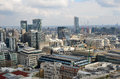London panorama aerial view from cathedral saint paul Royalty Free Stock Photo
