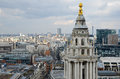 London panorama aerial view from cathedral saint paul Stock Photography