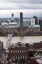 London panorama wth tate modern from st paul cathedral Stock Photos