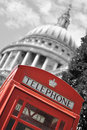 London phone box and St Paul's Stock Photography