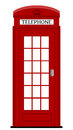 London phone box vector illustration Royalty Free Stock Photo