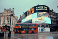 London piccadilly circus uk sep street view on september in uk built in it is the major shopping entertainment areas and Royalty Free Stock Image