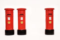 London postbox on white background