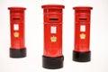 London postbox on white background