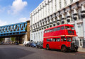 London Red Bus traditional old Royalty Free Stock Photo