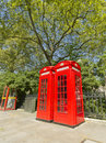 London Red Phone Boxes Royalty Free Stock Images