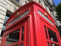London red telephone booth famous is one of the most well known symbols of Royalty Free Stock Photography