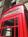London red telephone booth famous is one of the most well known symbols of Stock Images